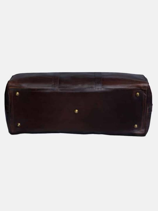 Amado pull up leather bag bottom