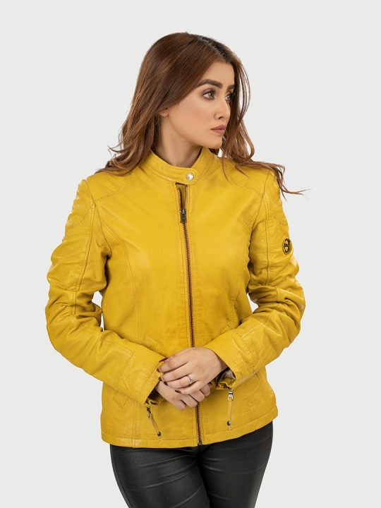 Clara Classic Women Leather jacket fornt 3