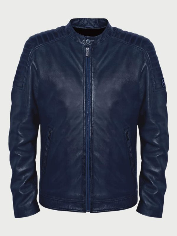 Edvin men leather jacket front