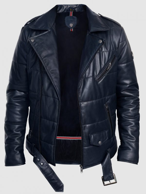 Blueorn Zale Quilted Leather Jacket